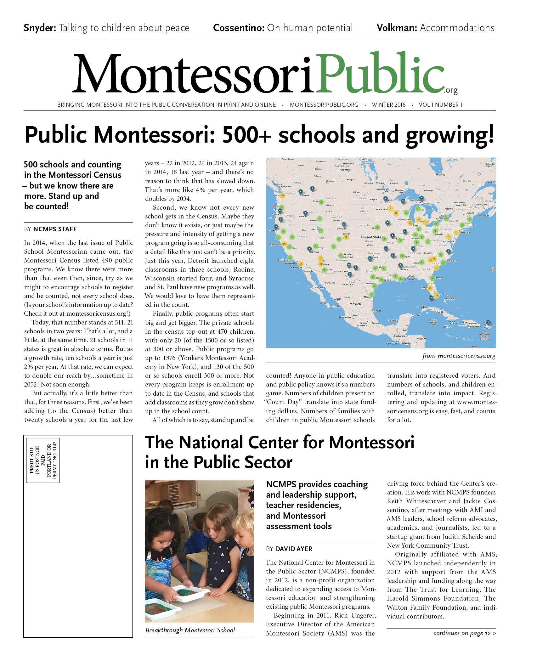 MontessoriPublic — Print Edition