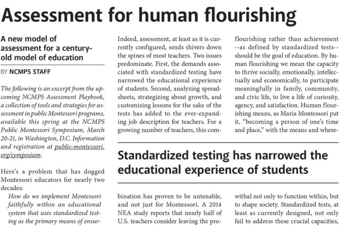 Assessment for human flourishing