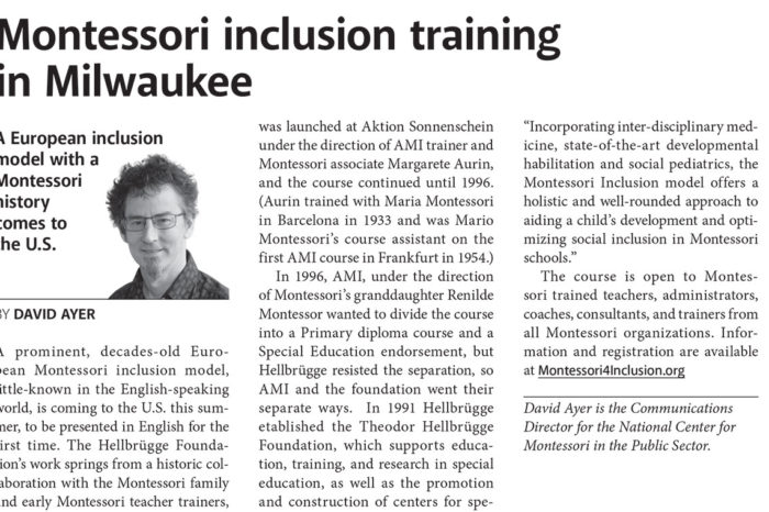 Montessori inclusion training in Milwaukee
